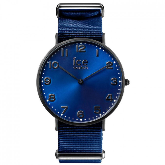ice watch damen armbanduhr edelstahl leder schwarz blau. Black Bedroom Furniture Sets. Home Design Ideas