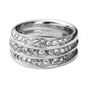 DKNY Damen-Ring Silber Kristall NJ1853040