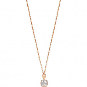 Esprit Collection Damen-Collier 925/-Sterling Silber Rosé, Weiß mit Zirkonia 42cm ELNL92828B420