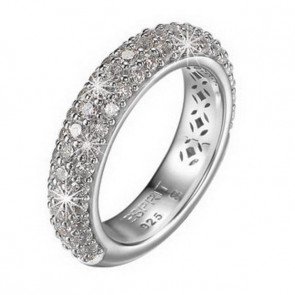 Esprit Collection Damen-Ring 925/-Sterling Silber Silber mit Zirkonia Größe 53 S.ELRG91400A170