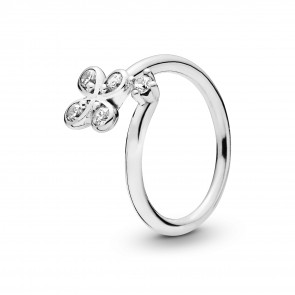 Pandora Four-Petal Flower Ring 197988CZ-58
