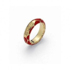 Just Cavalli Damen-Ring Messing Rot, GoldGr 54 WC11607A014