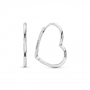 Originial Pandora Asymmetrical Heart Hoop Earrings  298307C00