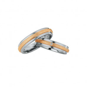 Trauringe Steel and Gold DR882160/HR882170 - Edelstahl/Rotgold