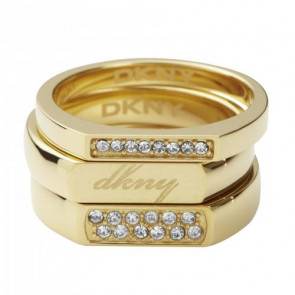 DKNY ring stainless steel gold NJ1788040