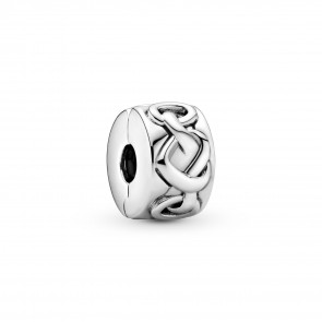 Pandora Knotted Hearts Clip Charm 798035